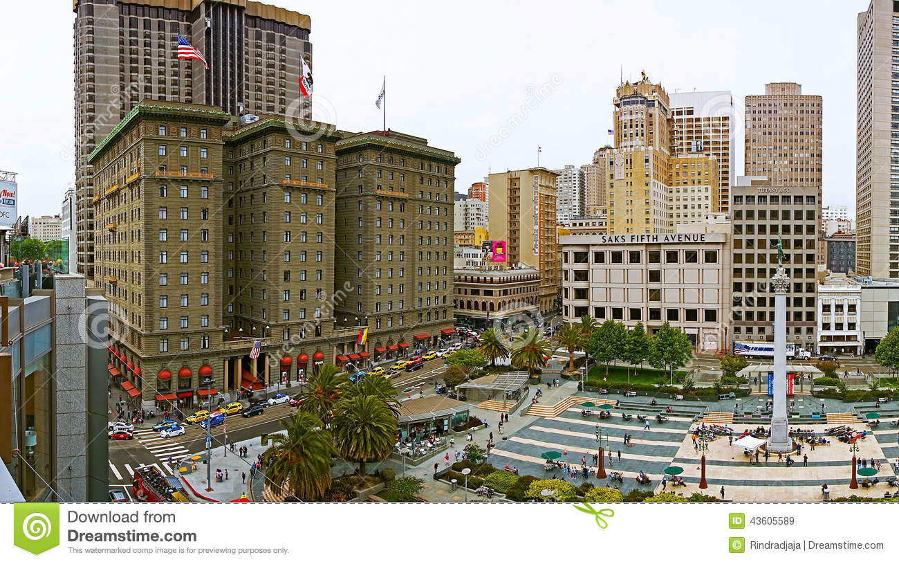 Hotel Union Square San Francisco San Francisco S Famous Union Square Editorial Stock Image Image
