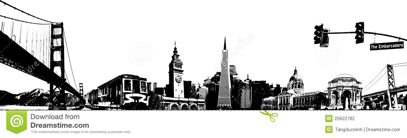 Brooklyn Bridge Wallpaper Black And White San Francisco Sketch Stock Photography Image 25622782