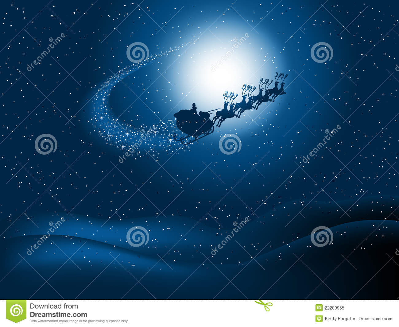 Animated Weather Wallpaper Iphone Santa In The Night Sky Royalty Free Stock Photo Image