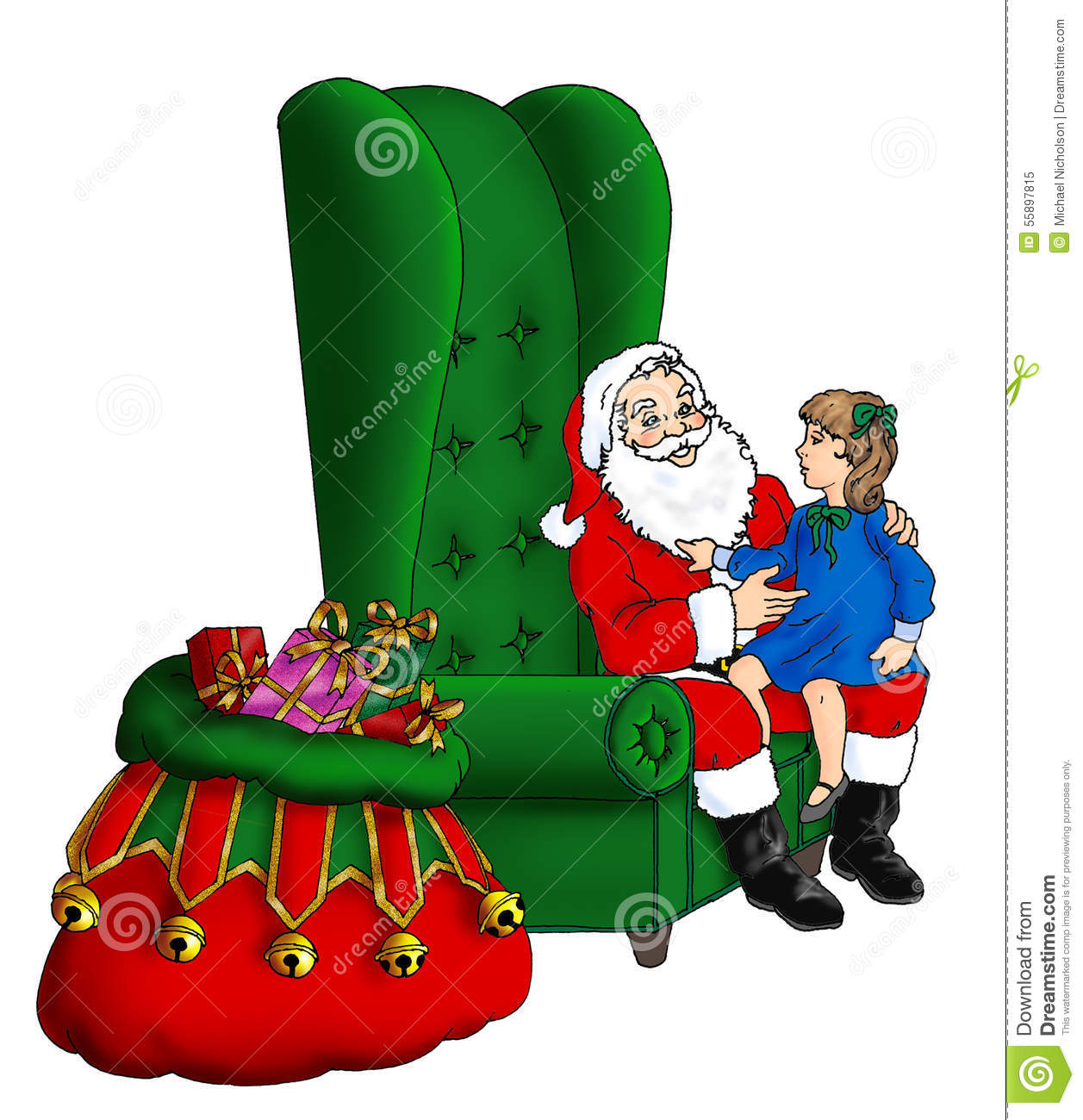 Best Reading Chair For Bad Back Santa Sitting In His Chair Stock Photography
