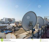 The Satellite Dish On The Roof Top Of Building In ...