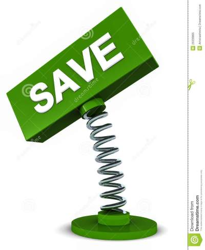 Save Banner Royalty Free Stock Photo - Image: 26339885