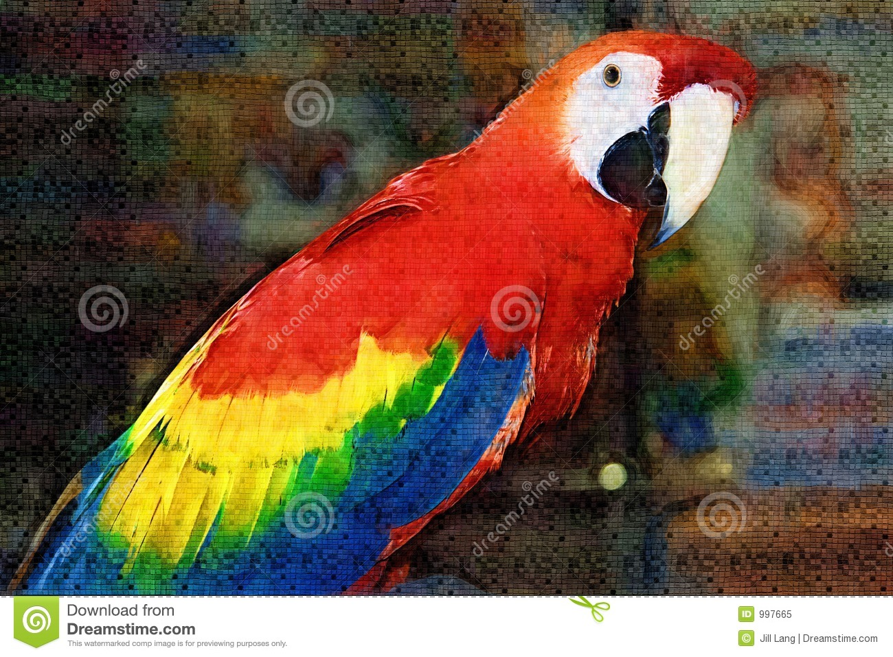Download 3d Horse Wallpaper Scarlet Macaw Painting Royalty Free Stock Photo Image