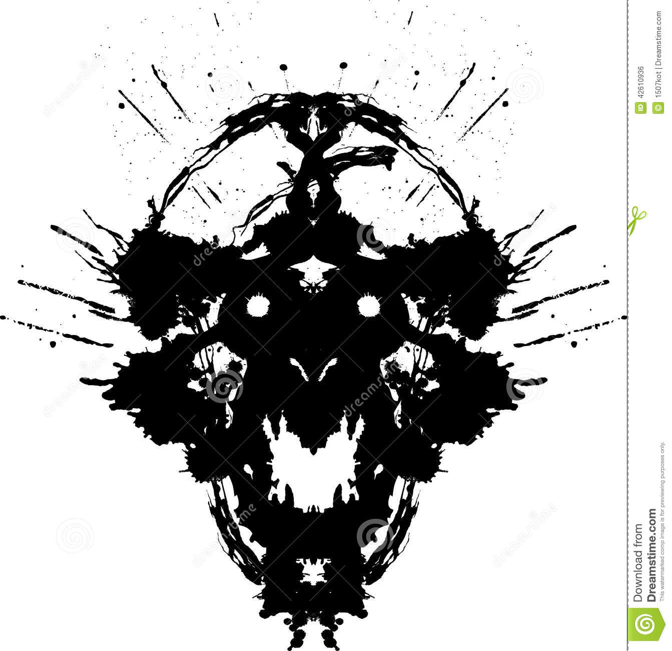 Silver Animal Print Wallpaper Scary Demon Stock Vector Illustration Of Horror Computer
