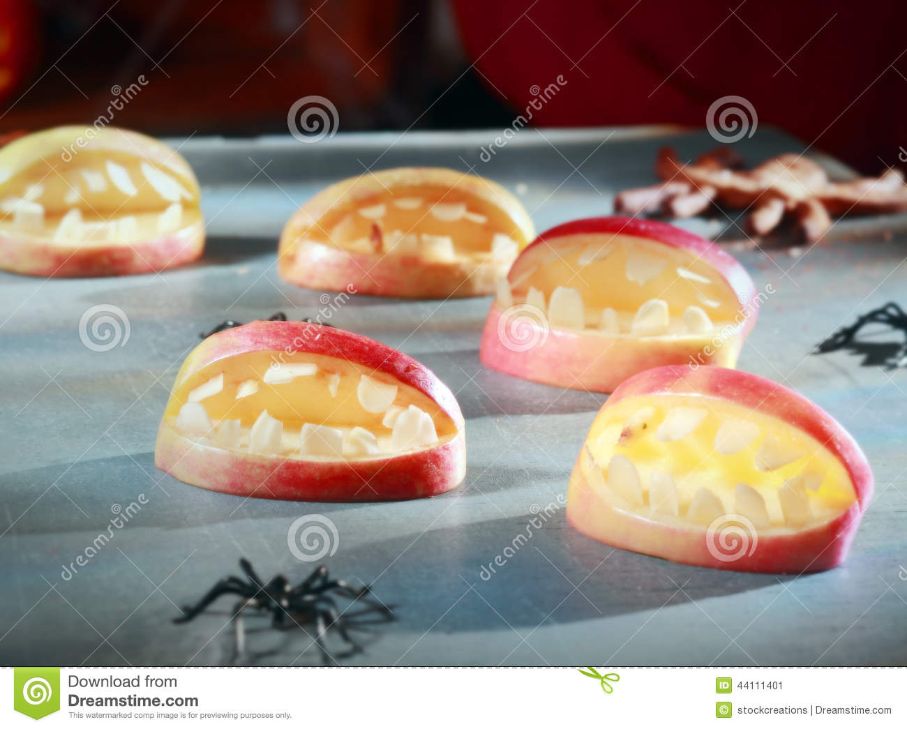 Scary halloween decorations for favors stock photo image