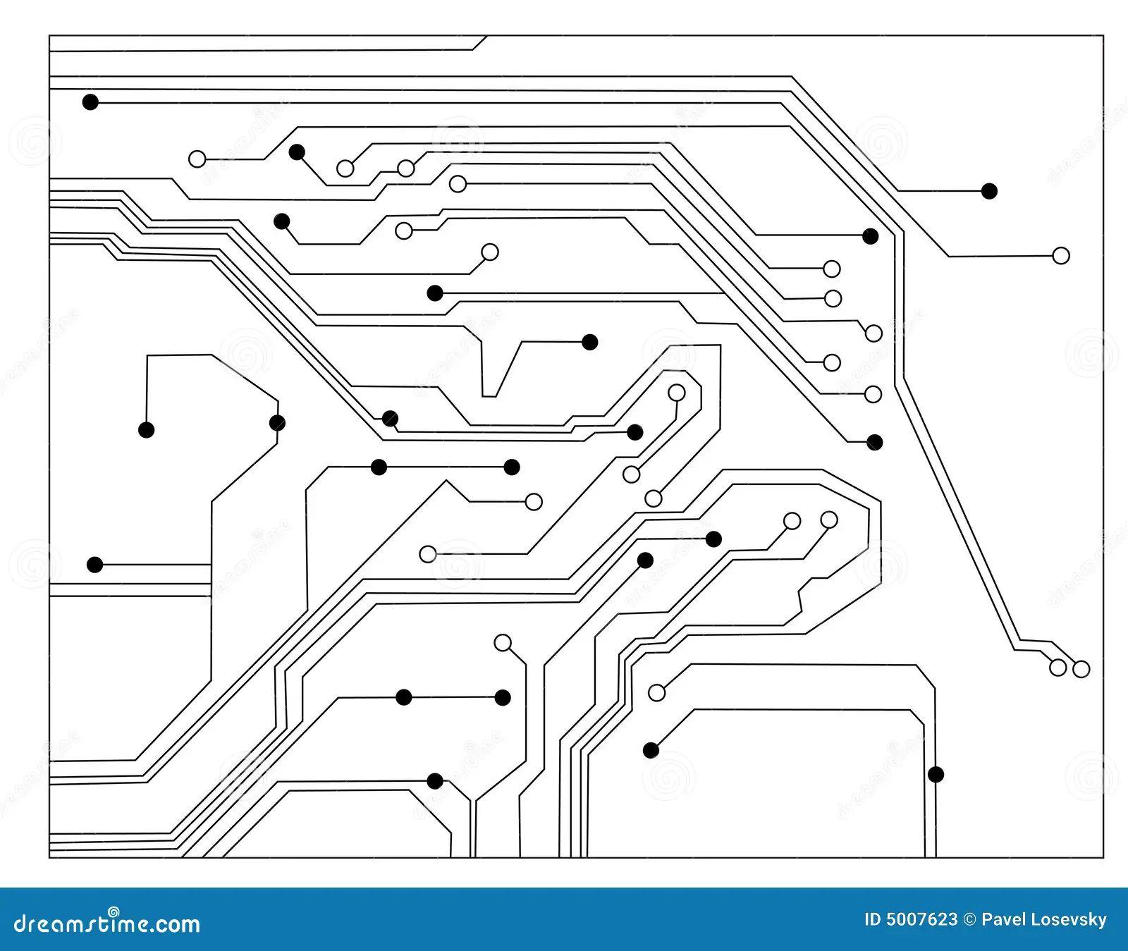 vector circuit board sphere stock vector