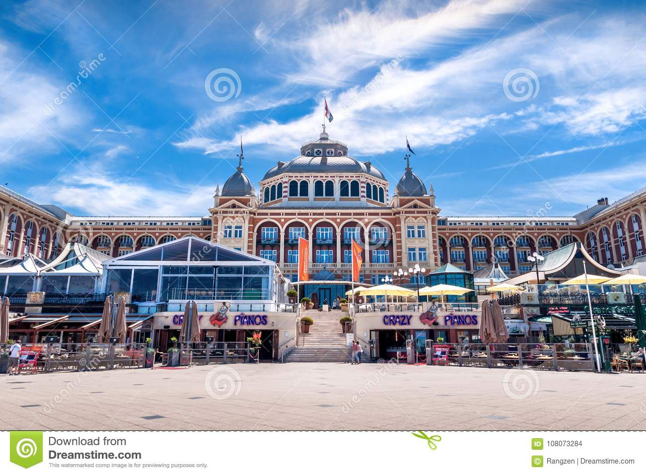 Scheveningen Beach Restaurants The Hotel Kurhaus In Scheveningen With Cafés And Restaurants