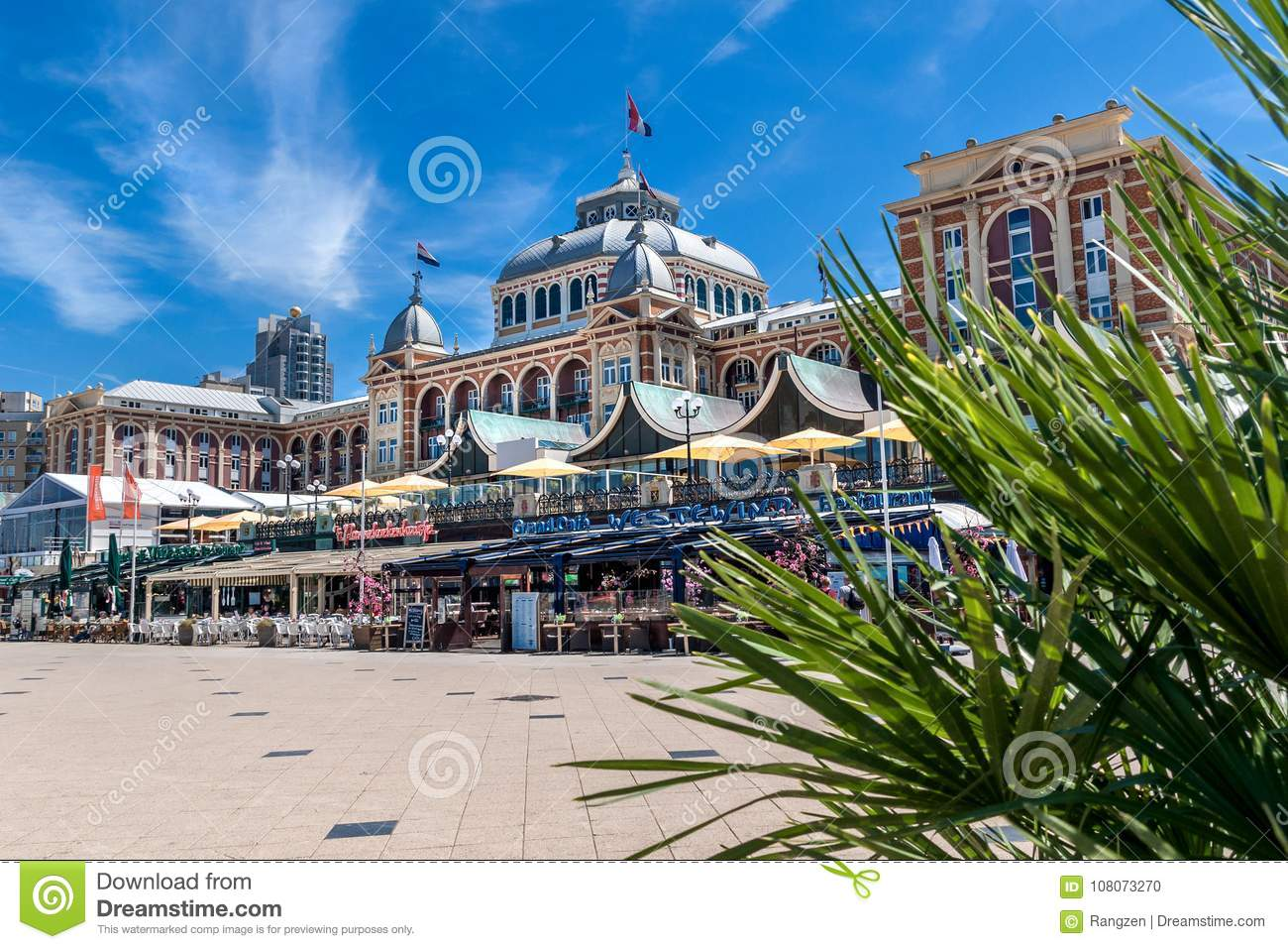 Scheveningen Beach Restaurants The Hotel Kurhaus In Scheveningen With Cafés Restaurants And P