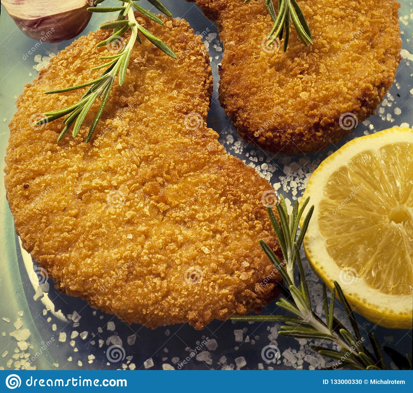 Schnitzel Restaurant Schnitzel Restaurant Fried Meat Meats Coated With Flourin Oil