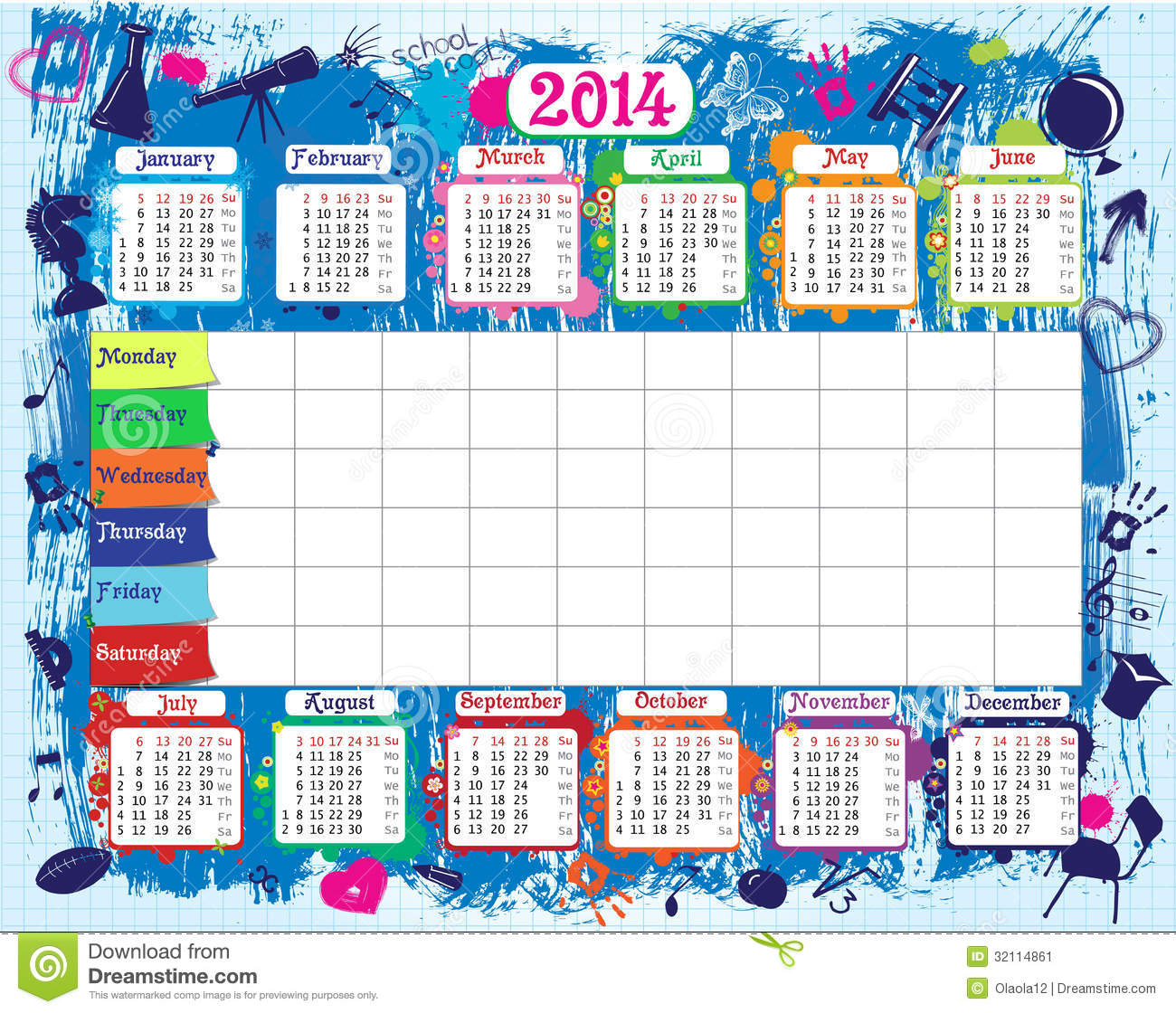 What Is Microsoft Visual C Redistributable Techwalla School Timetable And Calendar Stock Image Image 32114861