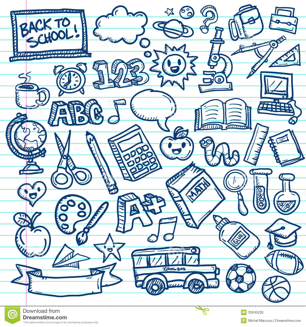 Old Time Car Wallpaper Hd School Vector Doodles Stock Photo Image 33045230