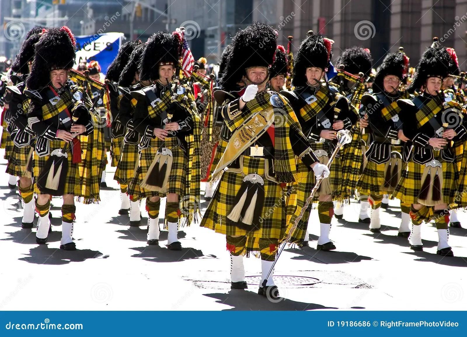Scottish Bagpipe Band Editorial Photo Image 19186686