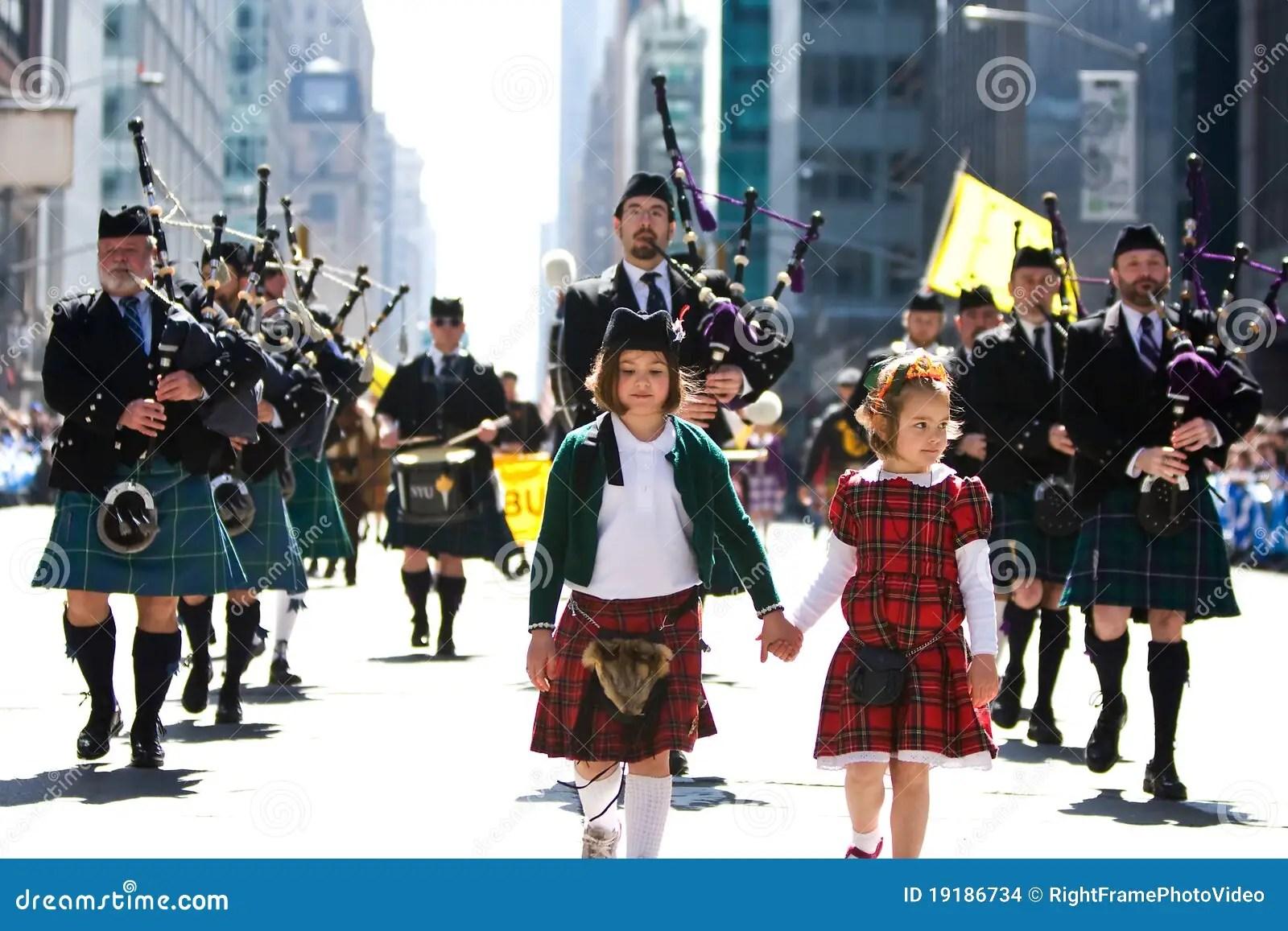 Scottish Bagpipe Band Editorial Stock Image Image Of Blue