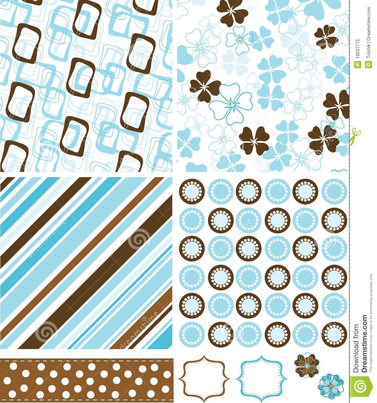 Cute Baby Girl Image Wallpaper Scrapbook Elements And Patterns For Design Stock Vector