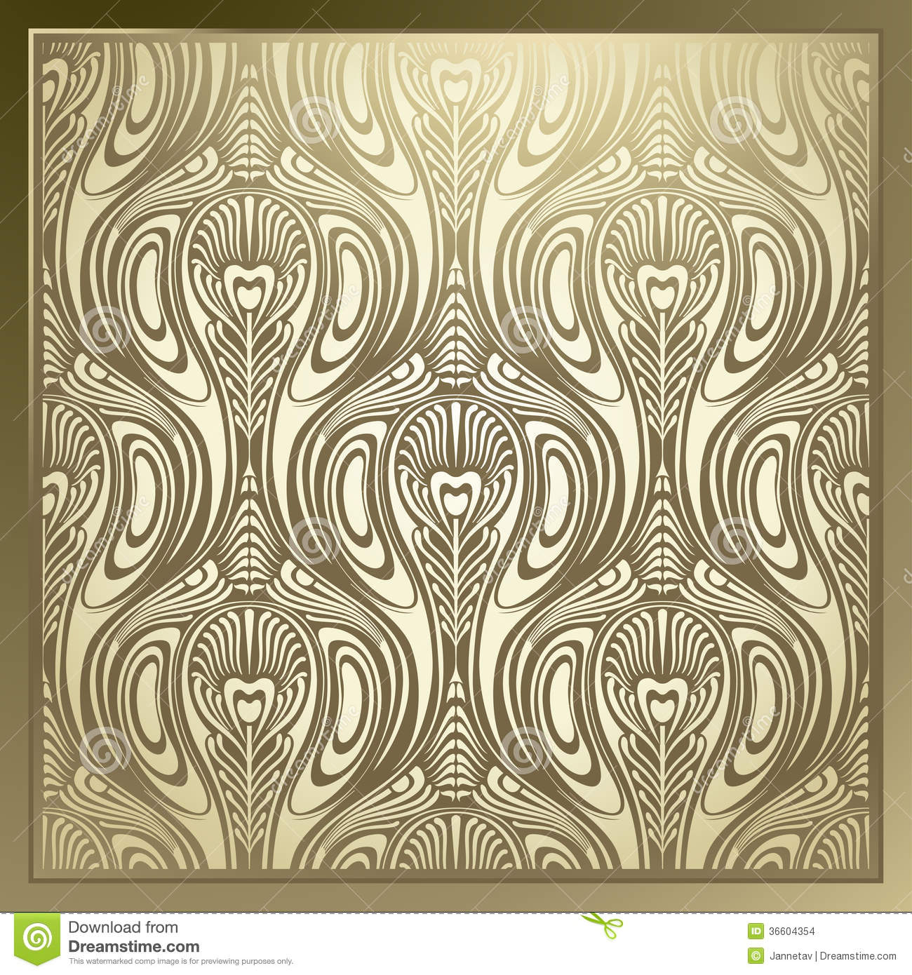 Art Design Bilder Seamless Art Nouveau Stock Images Image 36604354