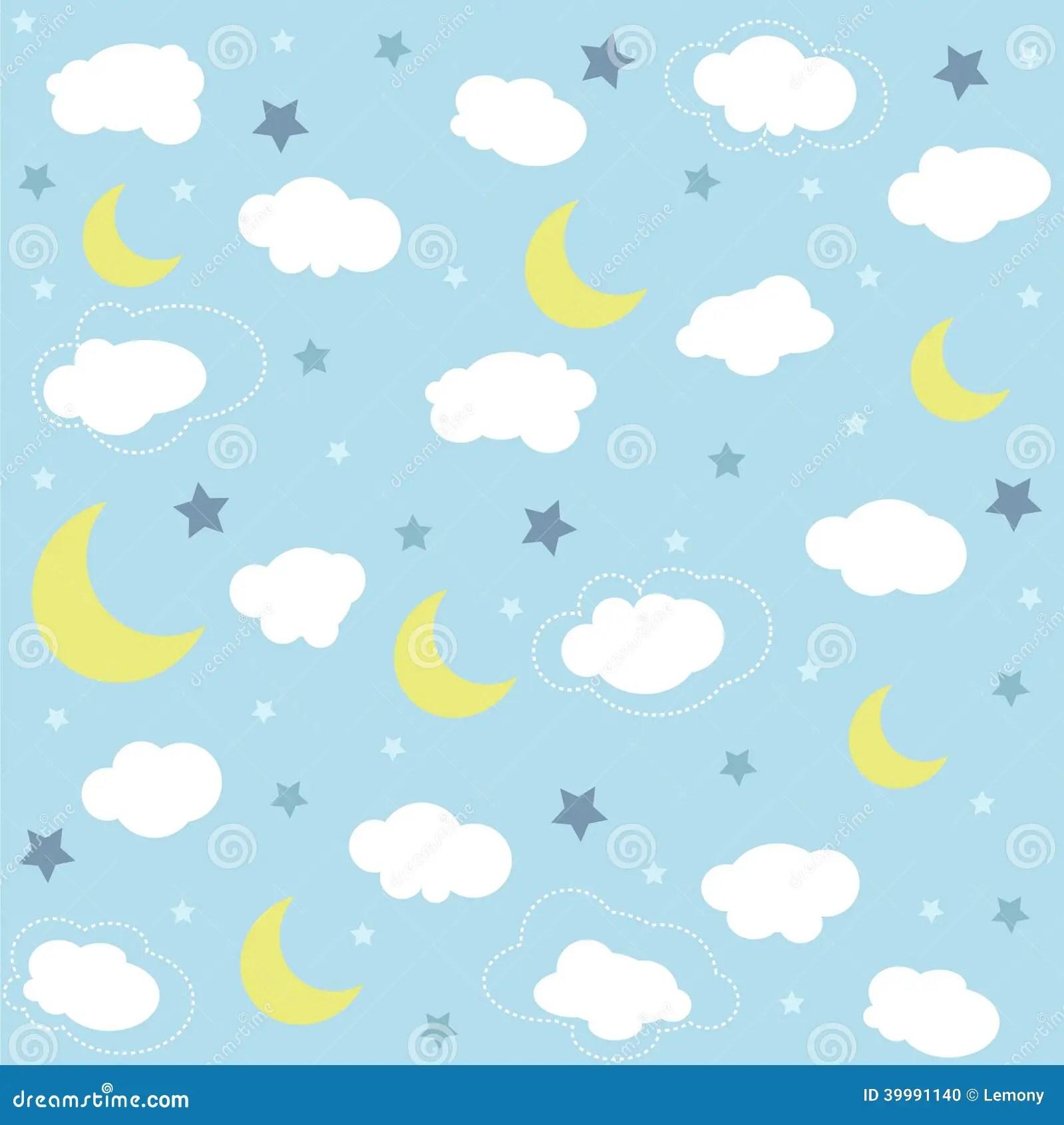 Baby Girl Nursery Wallpaper Borders Seamless Baby Pattern Wallpaper Stock Photo Image Of