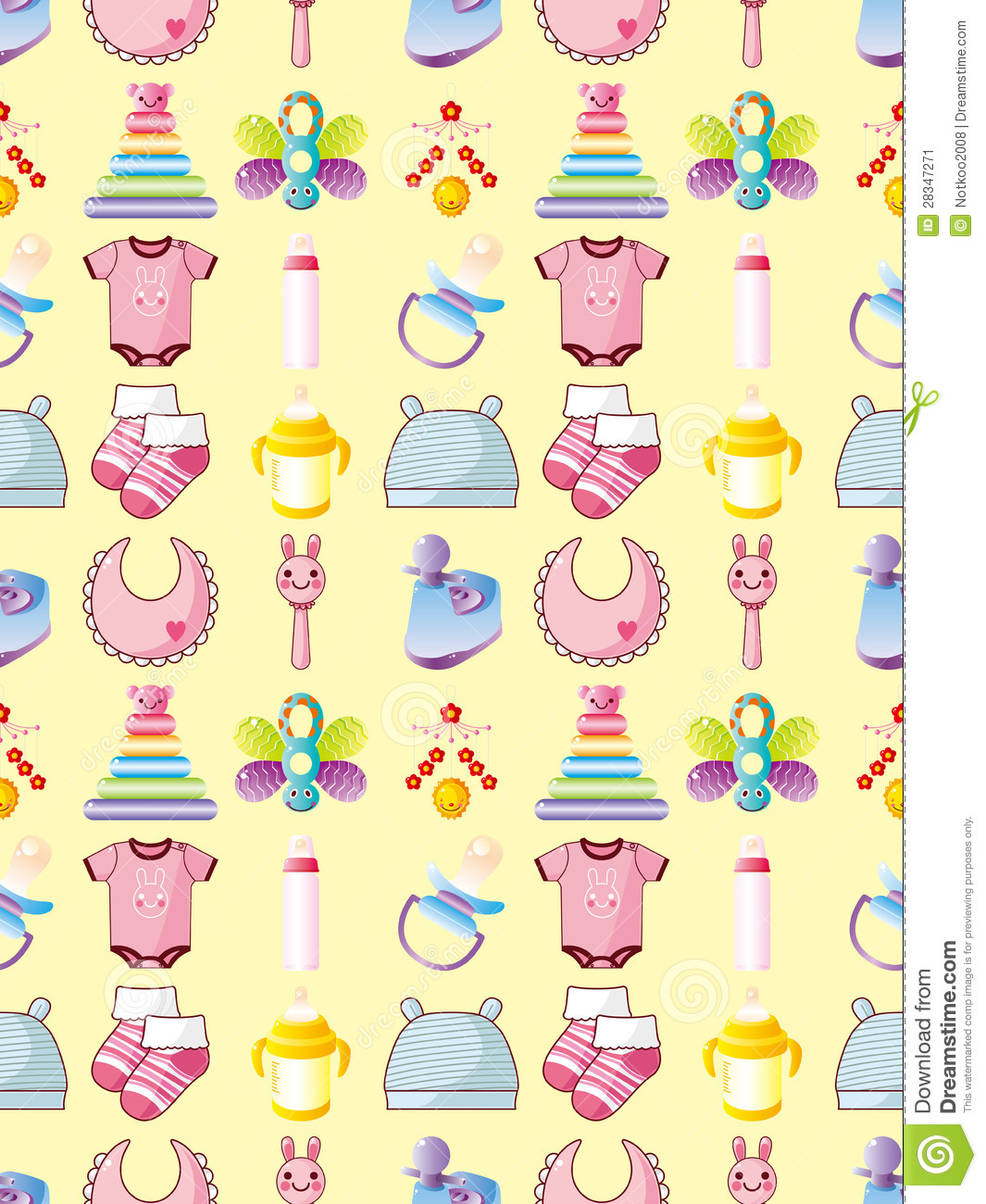 Cute Duck Wallpaper Seamless Baby Thing Pattern Stock Vector Image 28347271