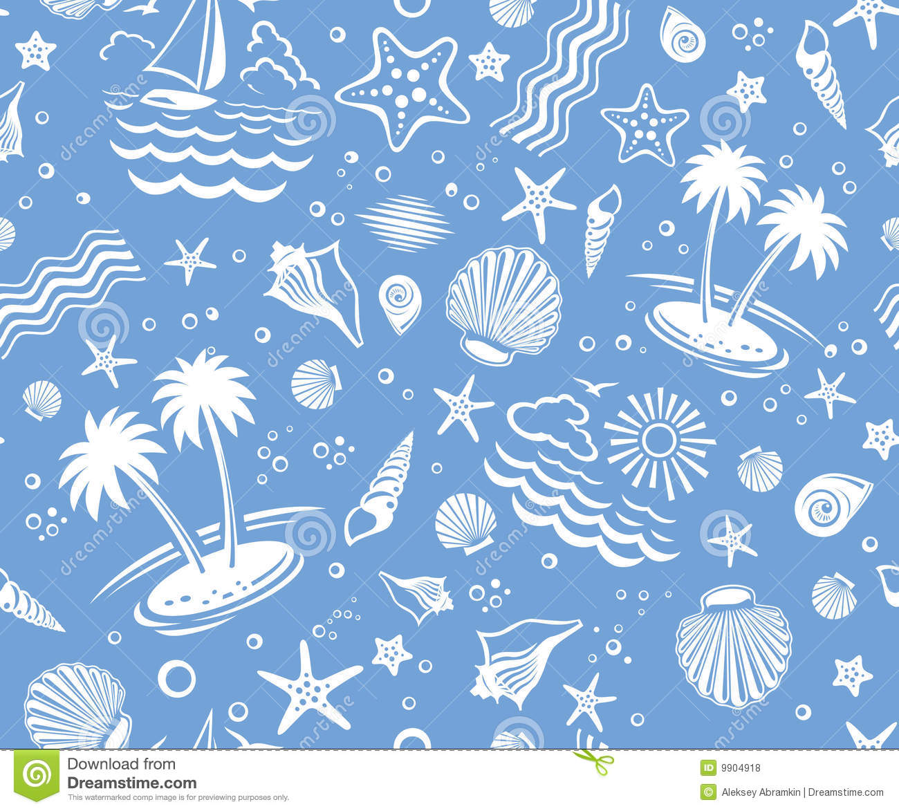 Fish Animation Wallpaper Free Download Seamless Beach Vector Pattern Royalty Free Stock Photos
