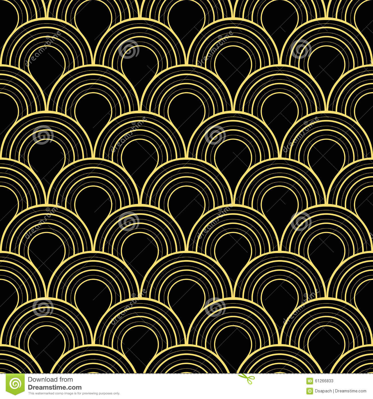3d Geometric Wallpaper For Walls Seamless Black And Gold Art Deco Twenties Vintage Pattern