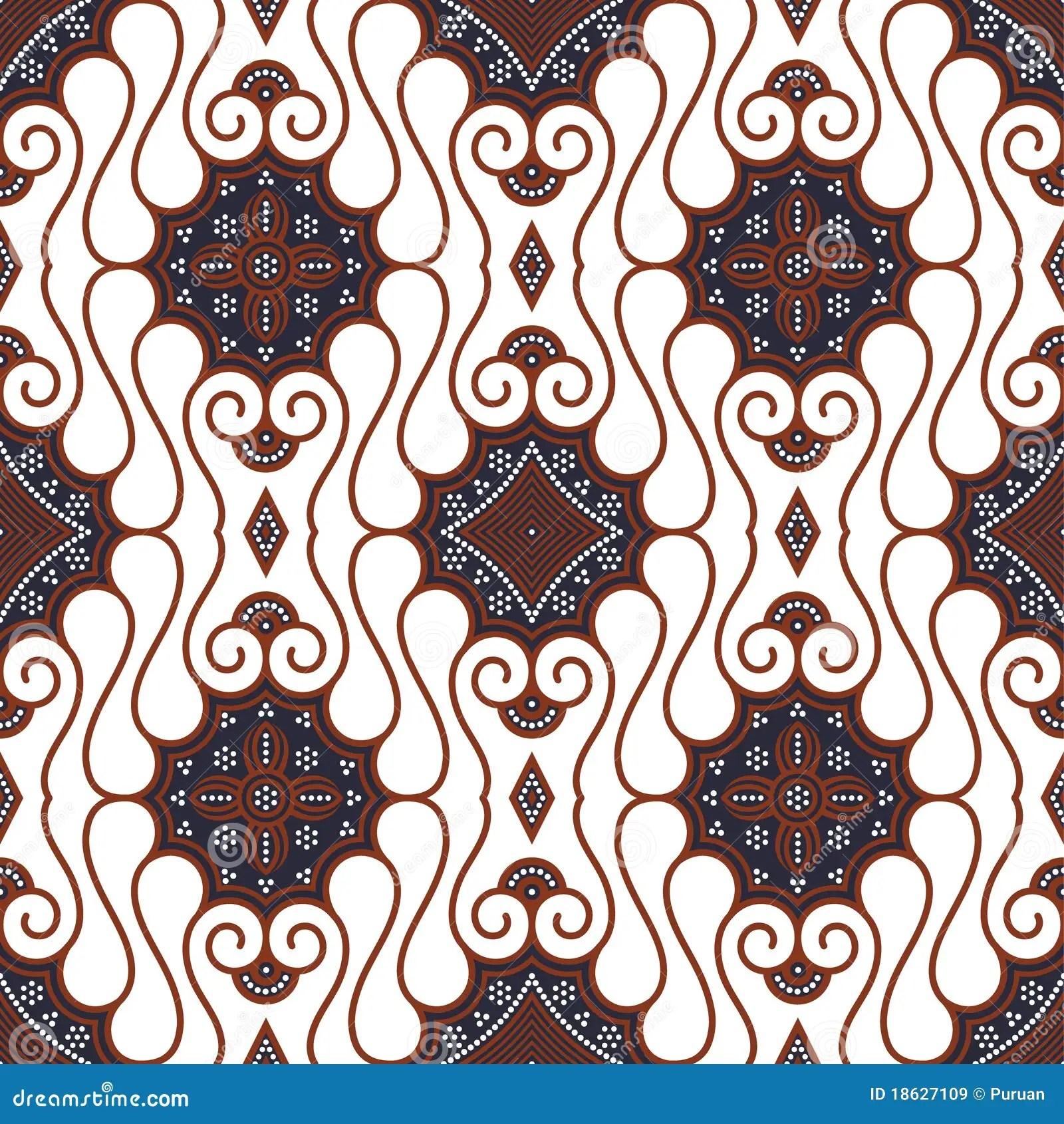 Cheap Black And White Wallpaper Seamless Brown White Batik Background Royalty Free Stock
