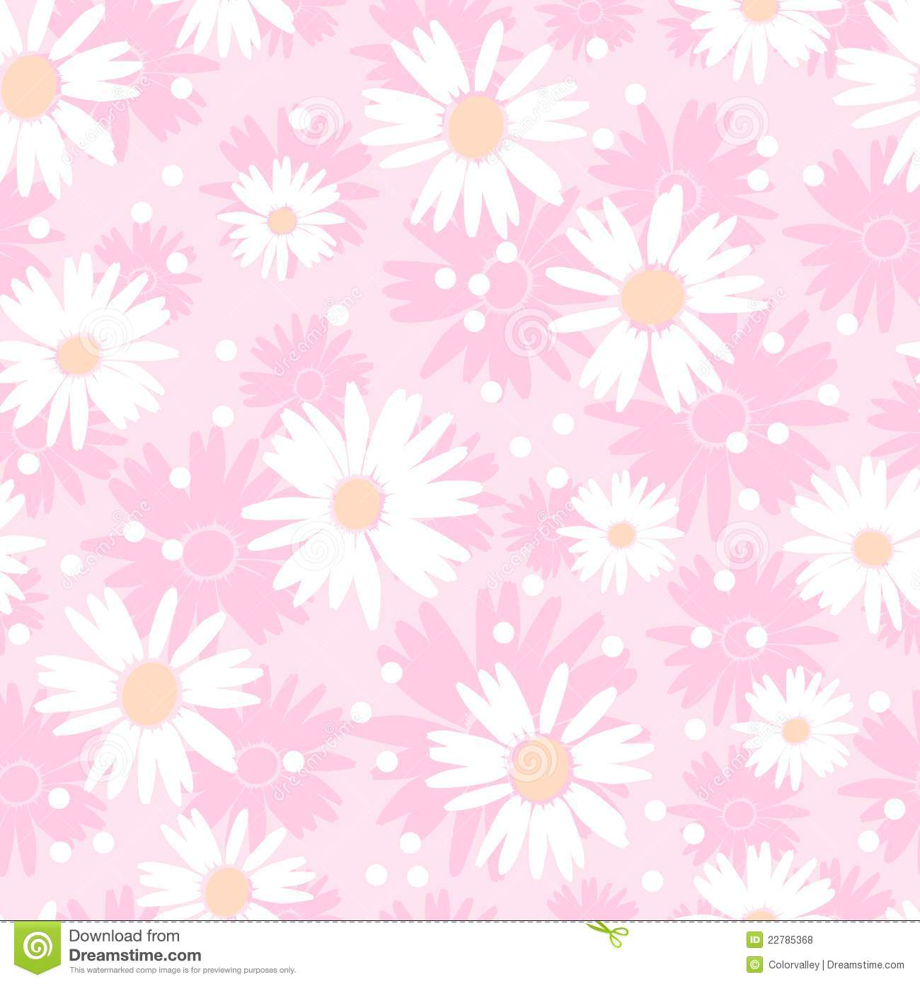 Cute Pineapple Big Wallpapers Seamless Cute Flower Background Royalty Free Stock Photos