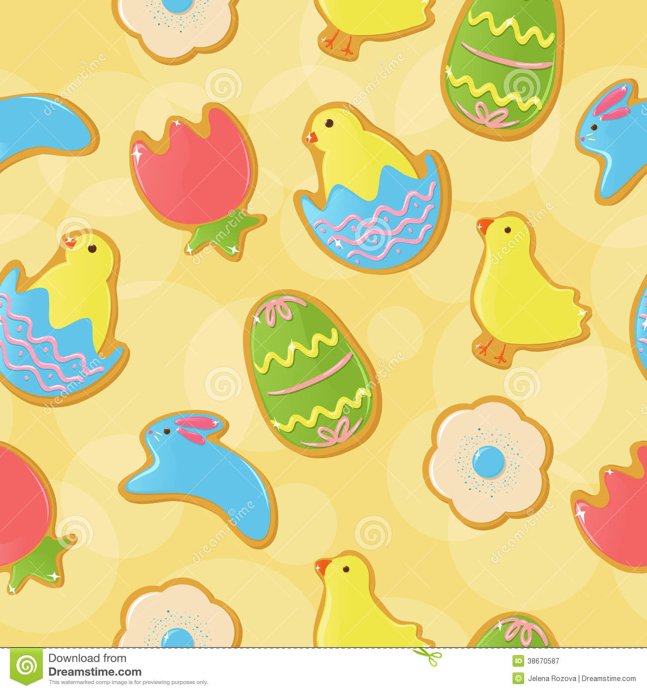 Cookie Monster Cute Wallpaper Seamless Easter Cookie Background Royalty Free Stock