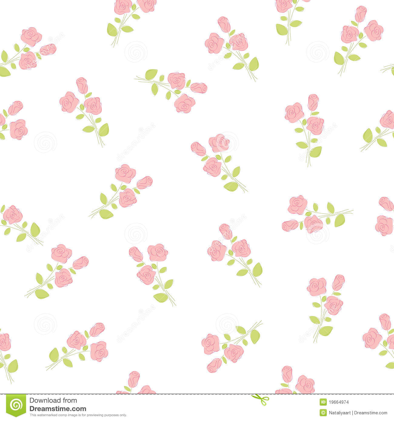 Cute Bordered Pastel Flower Wallpaper Seamless Floral Wallpaper Stock Images Image 19664974