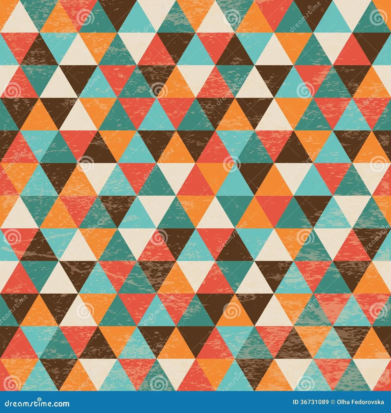 Mondrian Iphone Wallpaper Seamless Geometric Triangle Background Stock Vector