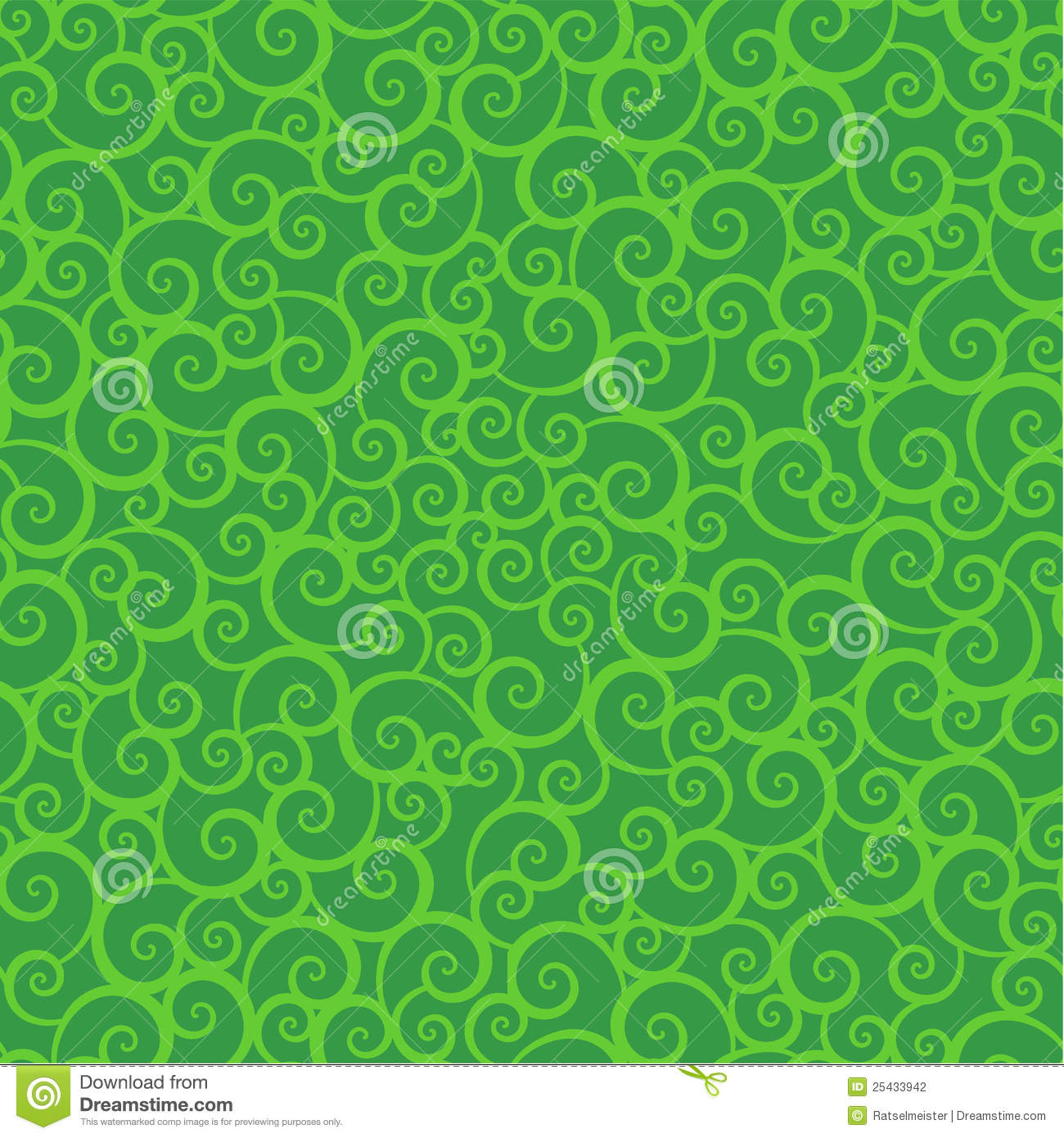 Black And White Leaf Wallpaper Seamless Green Swirls Pattern Stock Vector Illustration