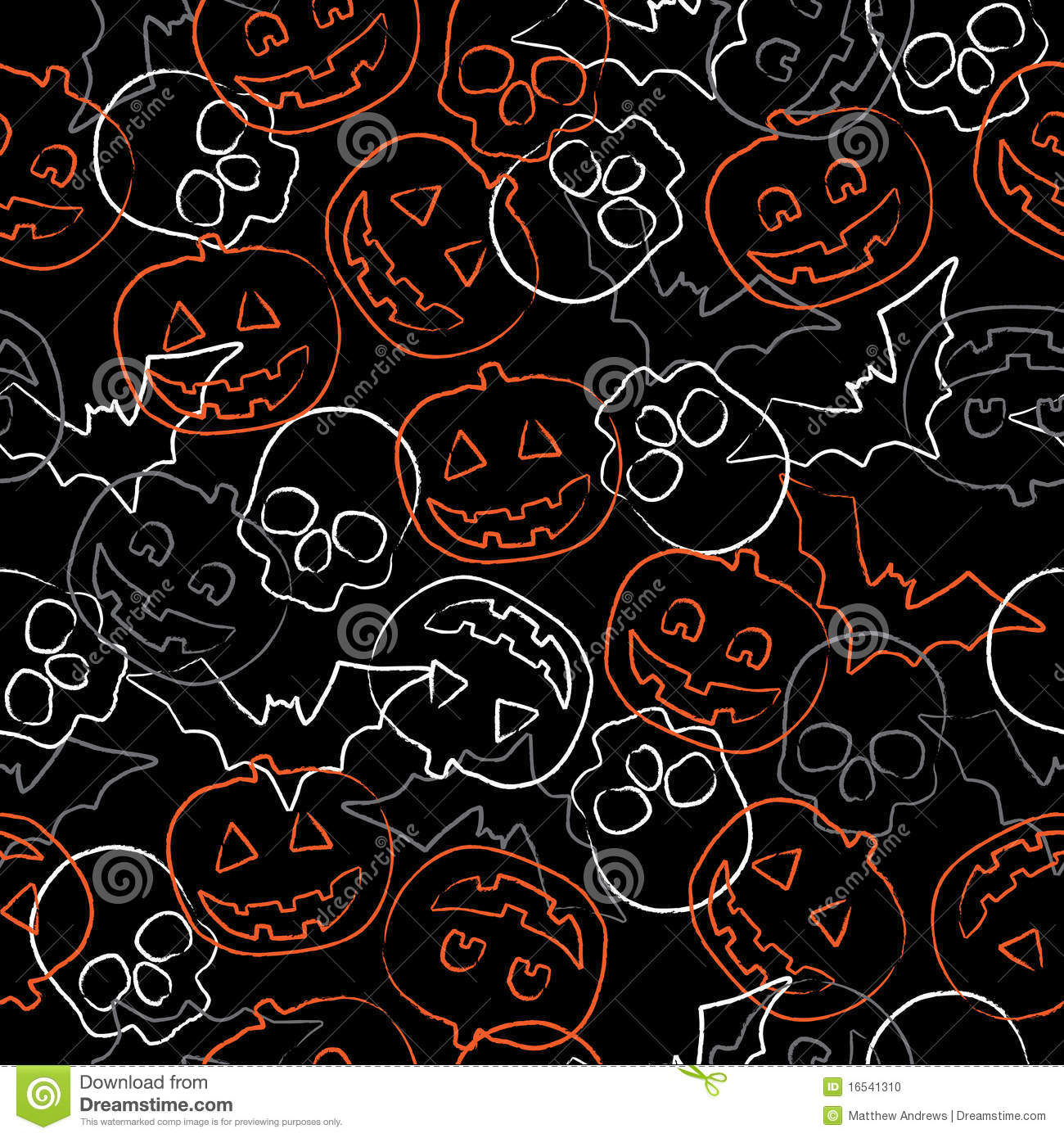 Cute Halloween Wallpapers For Android Seamless Halloween Pattern Stock Photo Image 16541310