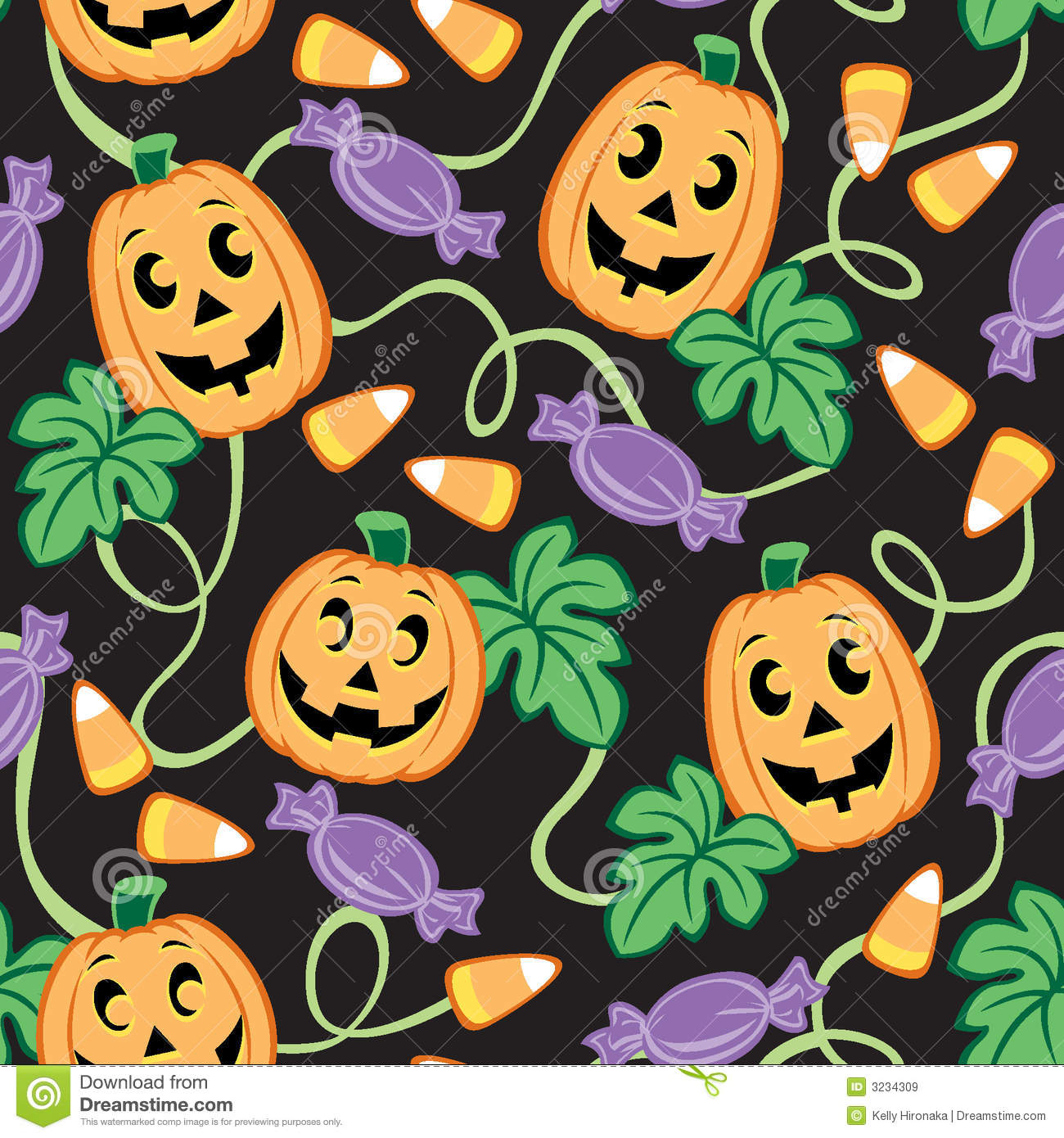 Fall Wallpaper Backgrounds Pumpkins Seamless Halloween Pattern Royalty Free Stock Images