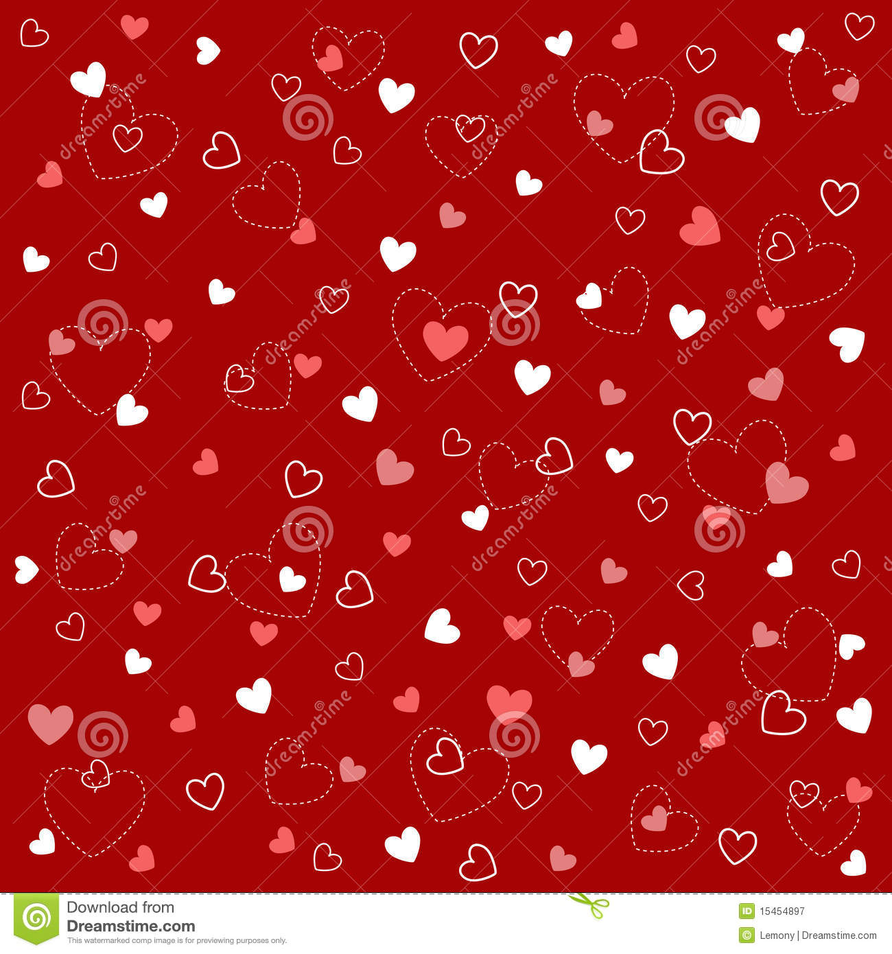 Baby Girl Pattern Wallpaper Seamless Heart Patterns With Fabric Texture Royalty Free