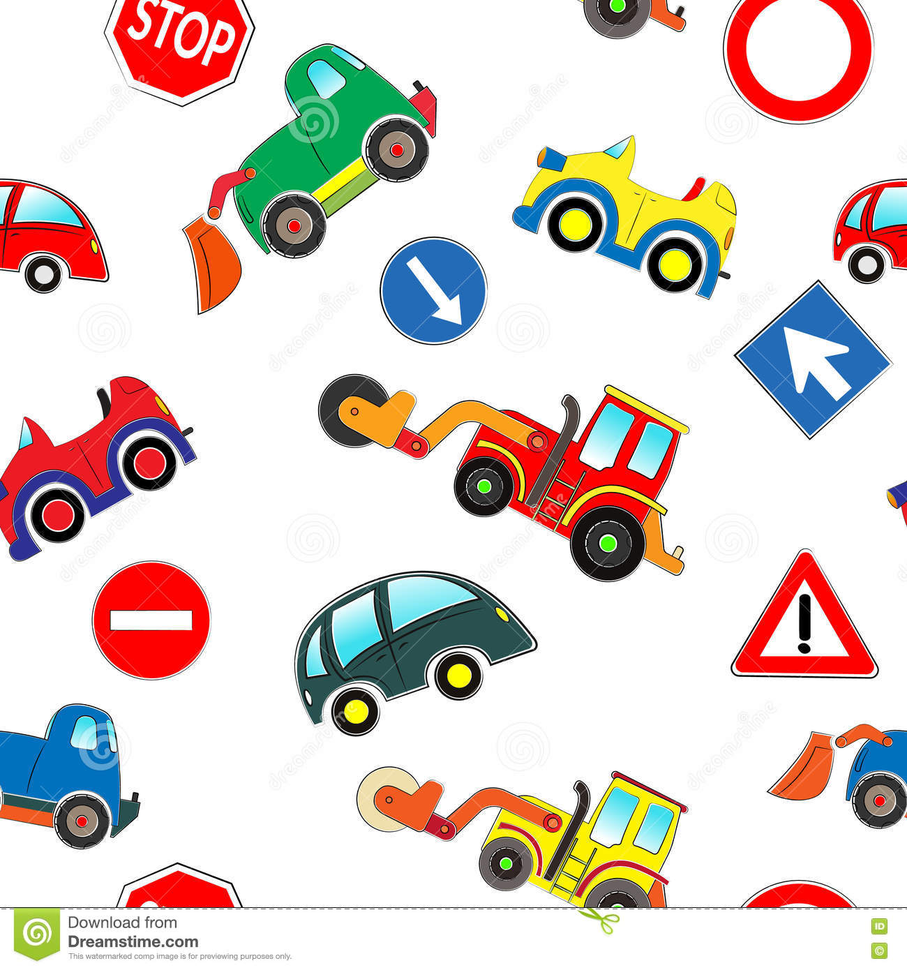 All Cars Symbols Wallpaper Seamless Kids Cars Pattern Stock Vector Image 71470432