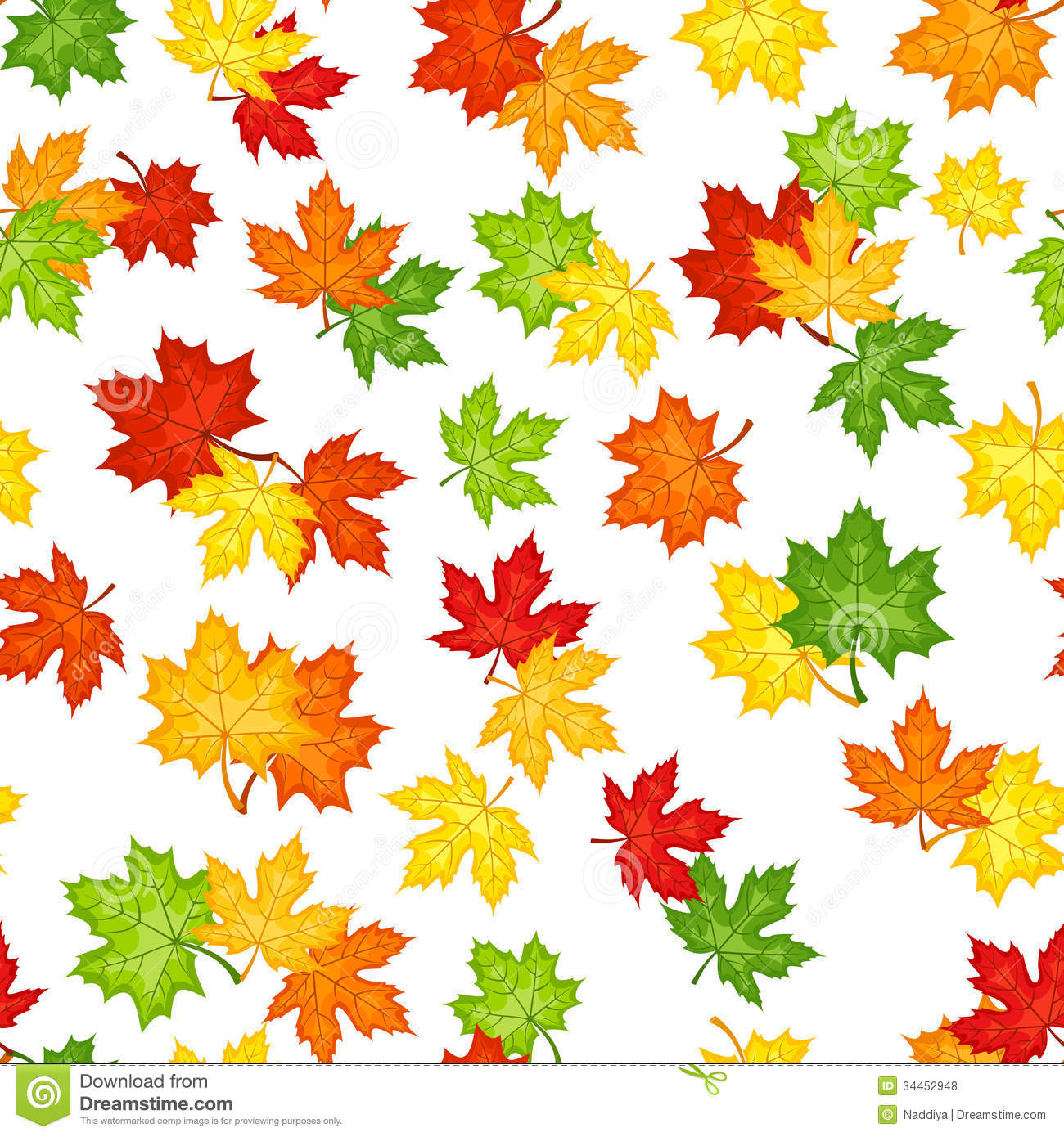 Fall Of The Leafe Wallpaper Seamless Pattern With Autumn Maple Leaves Royalty Free