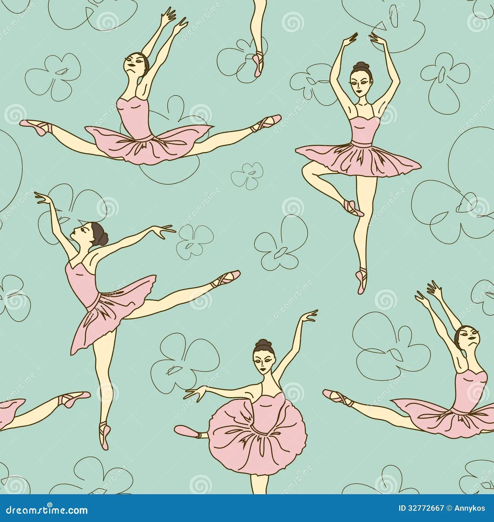 Royalty free stock photo ballet pattern seamless