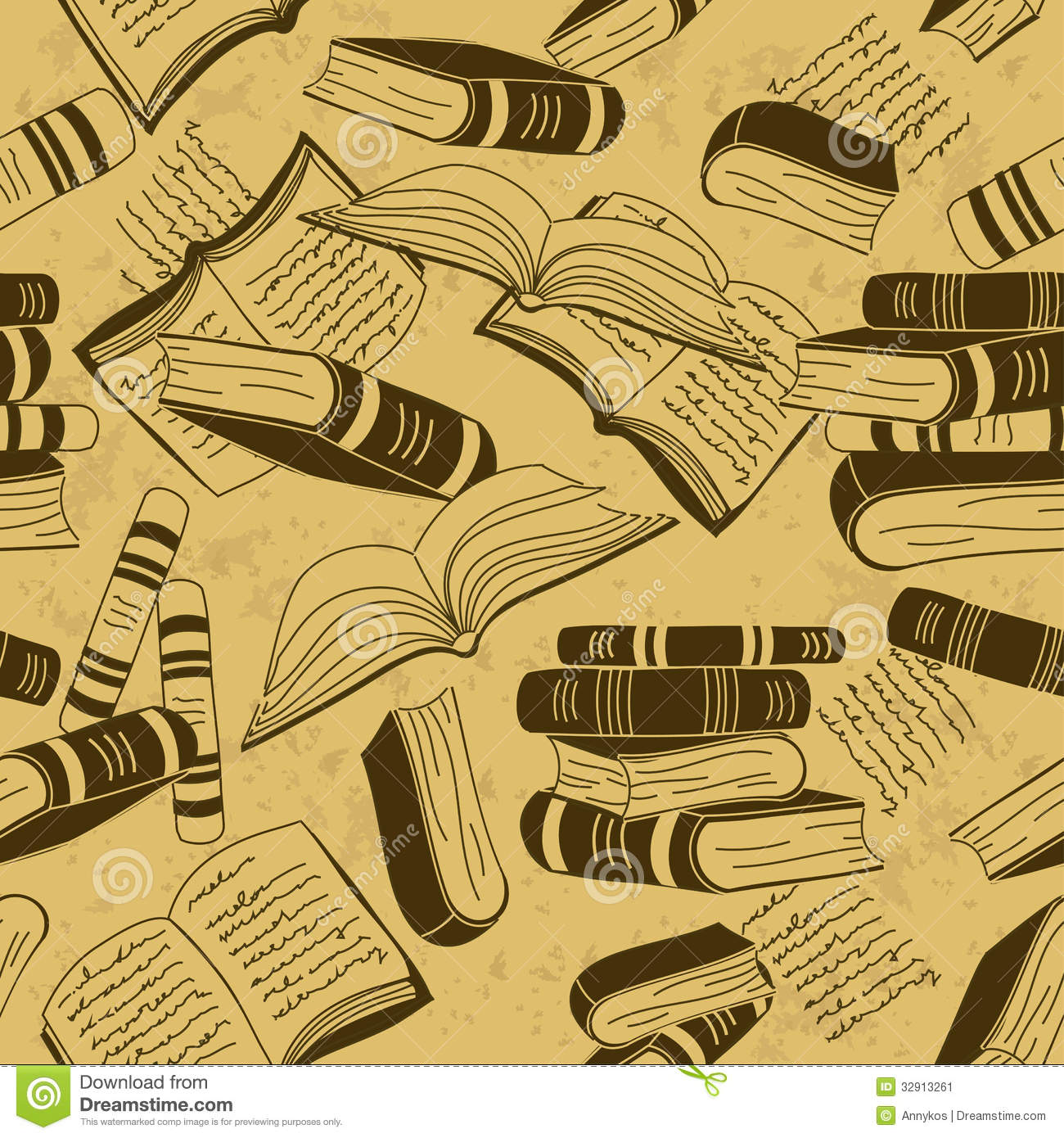 3d Dil Wallpaper Seamless Pattern Of Books Stock Image Image 32913261