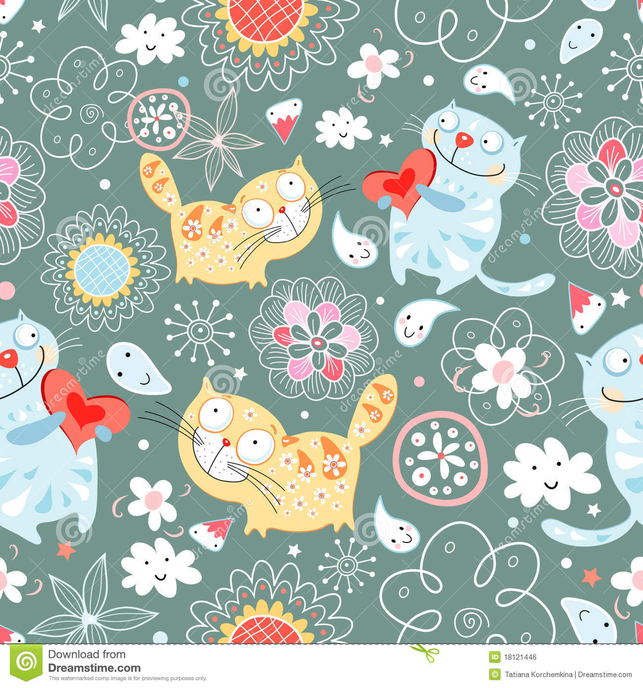 Cute Halloween Cat Wallpaper Seamless Pattern Of Cat Lovers Royalty Free Stock Image