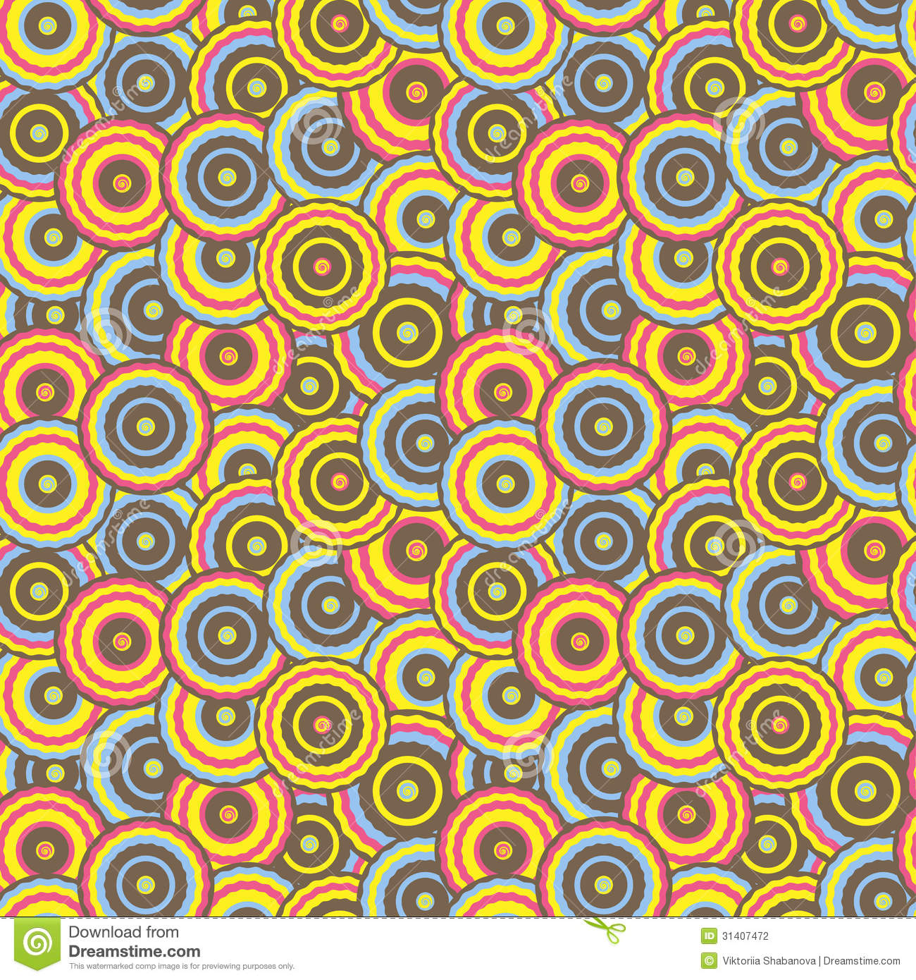 Buntes Papier Seamless Pattern With Colorful Circles In Retro Style