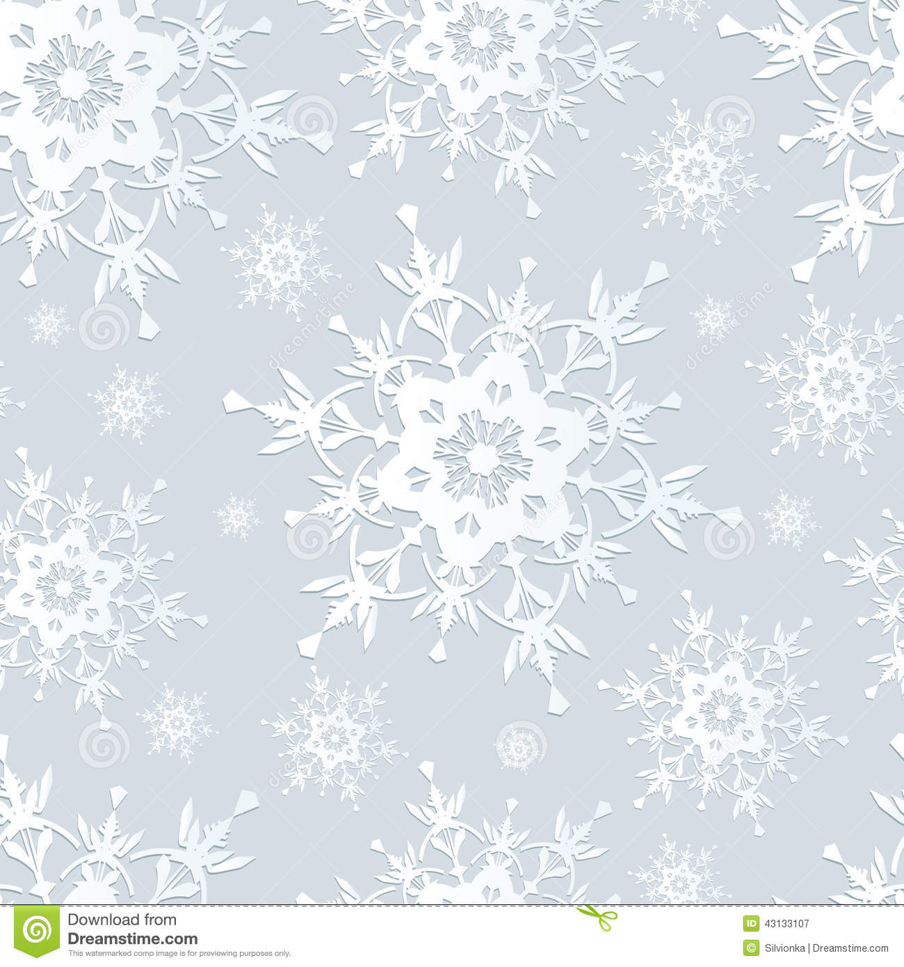 Falling Snow Wallpaper Iphone 5 Seamless Pattern Grey With Snowflakes Stock Vector
