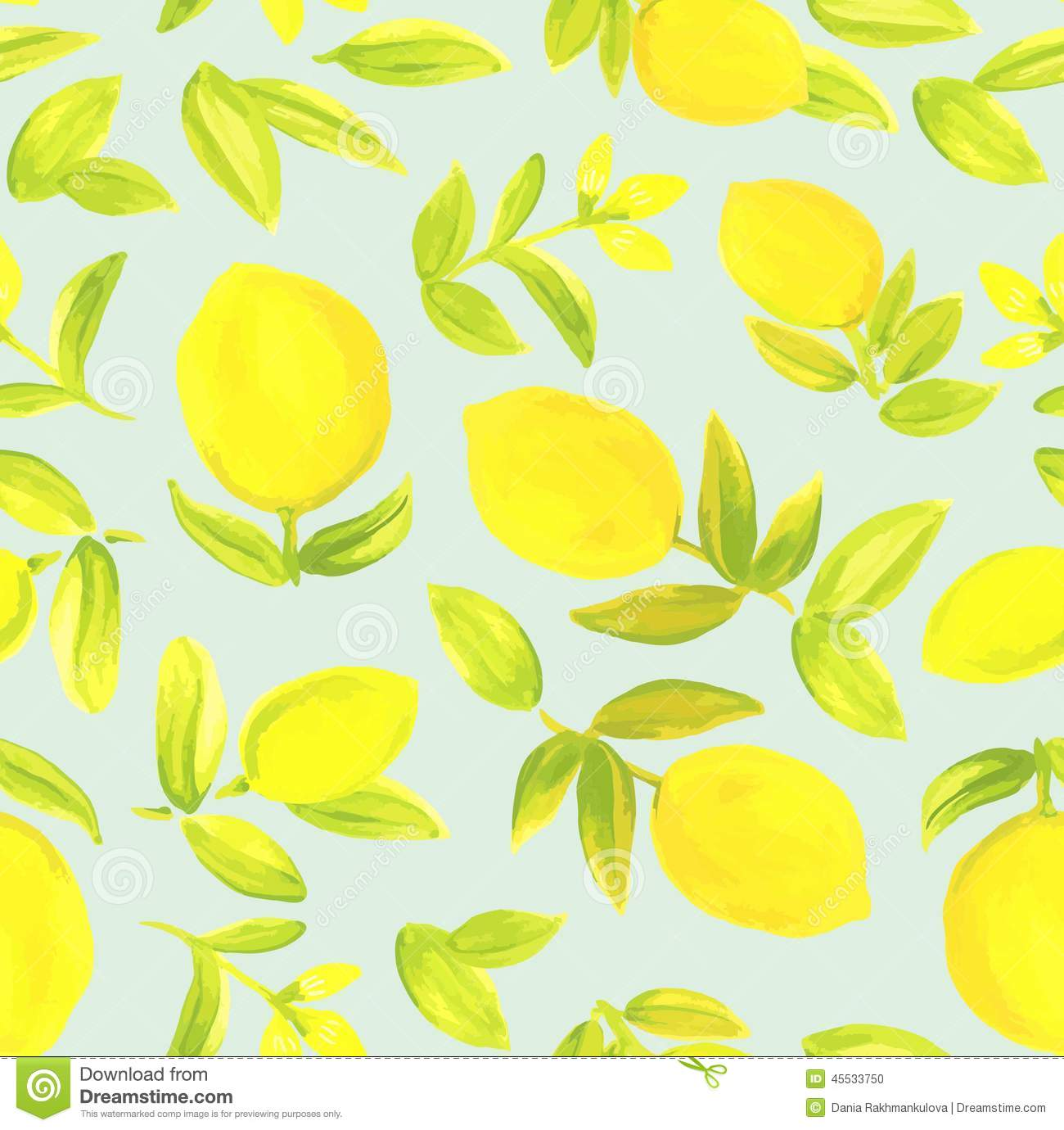 Floral Print Iphone Wallpaper Seamless Pattern With Lemons Stock Illustration Image