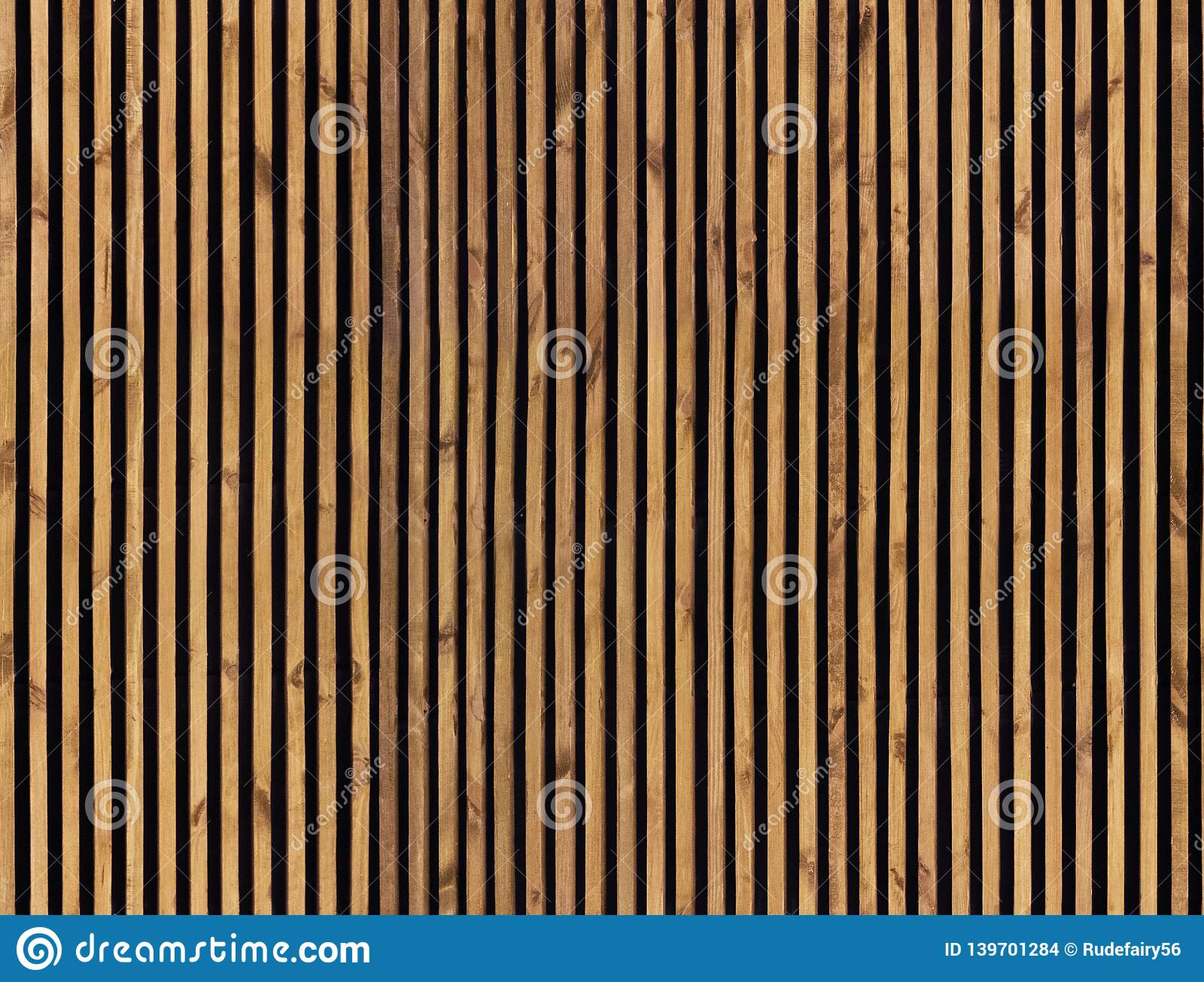 Vertical Wood Slat Wall Seamless Pattern Of Wooden Slats Stock Photo Image Of Board