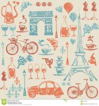 Seamless Pattern With Paris / France Elements. Stock ...
