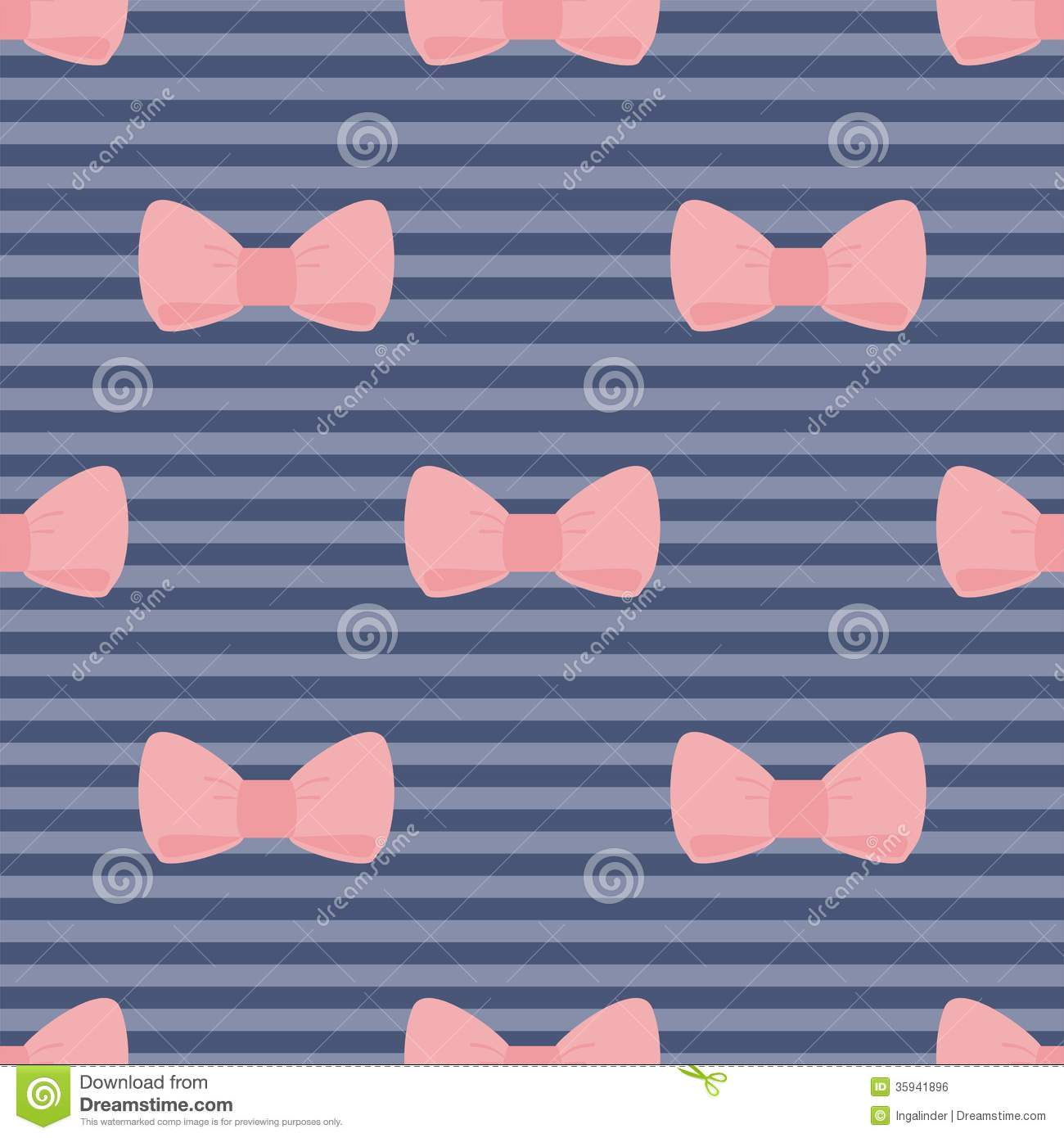 Cute Small Baby Girl Wallpapers Seamless Vector Pattern Pink Bows On Navy Blue Str Stock