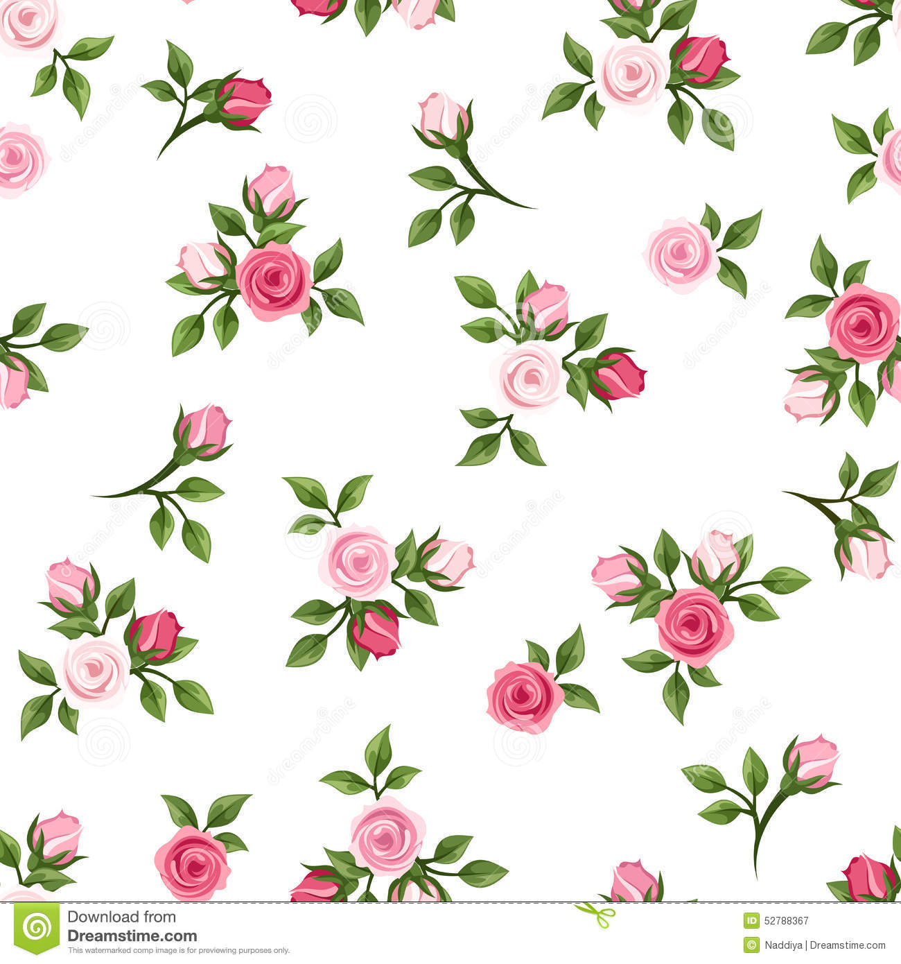 Orange Fall Peony Wallpaper Seamless Pattern With Pink Roses Vector Illustration