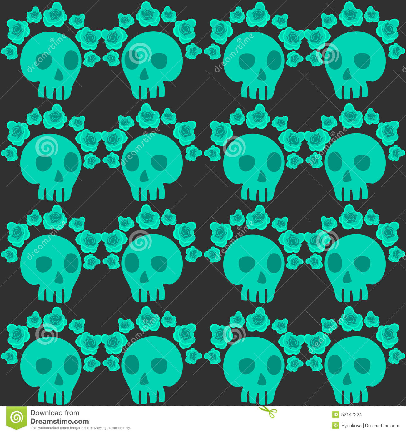 Skeleton Pattern Wallpaper Cute Seamless Pattern With Skulls And Roses Mexican Day Of The
