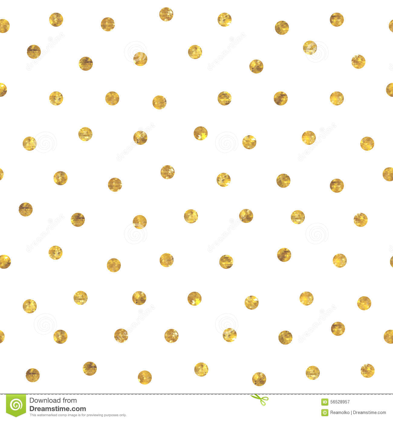 Black And White Polka Dot Wallpaper Border Seamless Polka Dot Golden Pattern Stock Vector Image