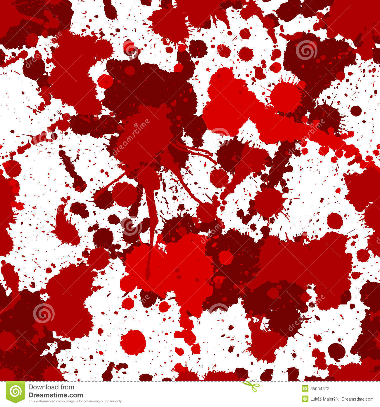Black And White Dot Wallpaper Seamless Red Bloody Splats Pattern Stock Vector