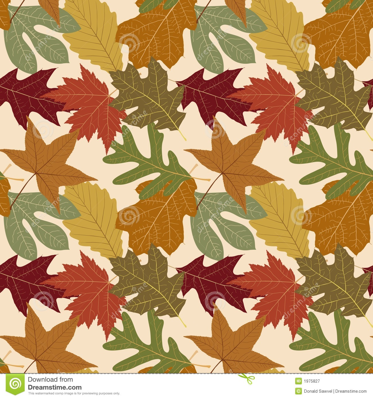Fall Wallpaper Themes Seamless Repeating Fall Leaf Background Royalty Free Stock