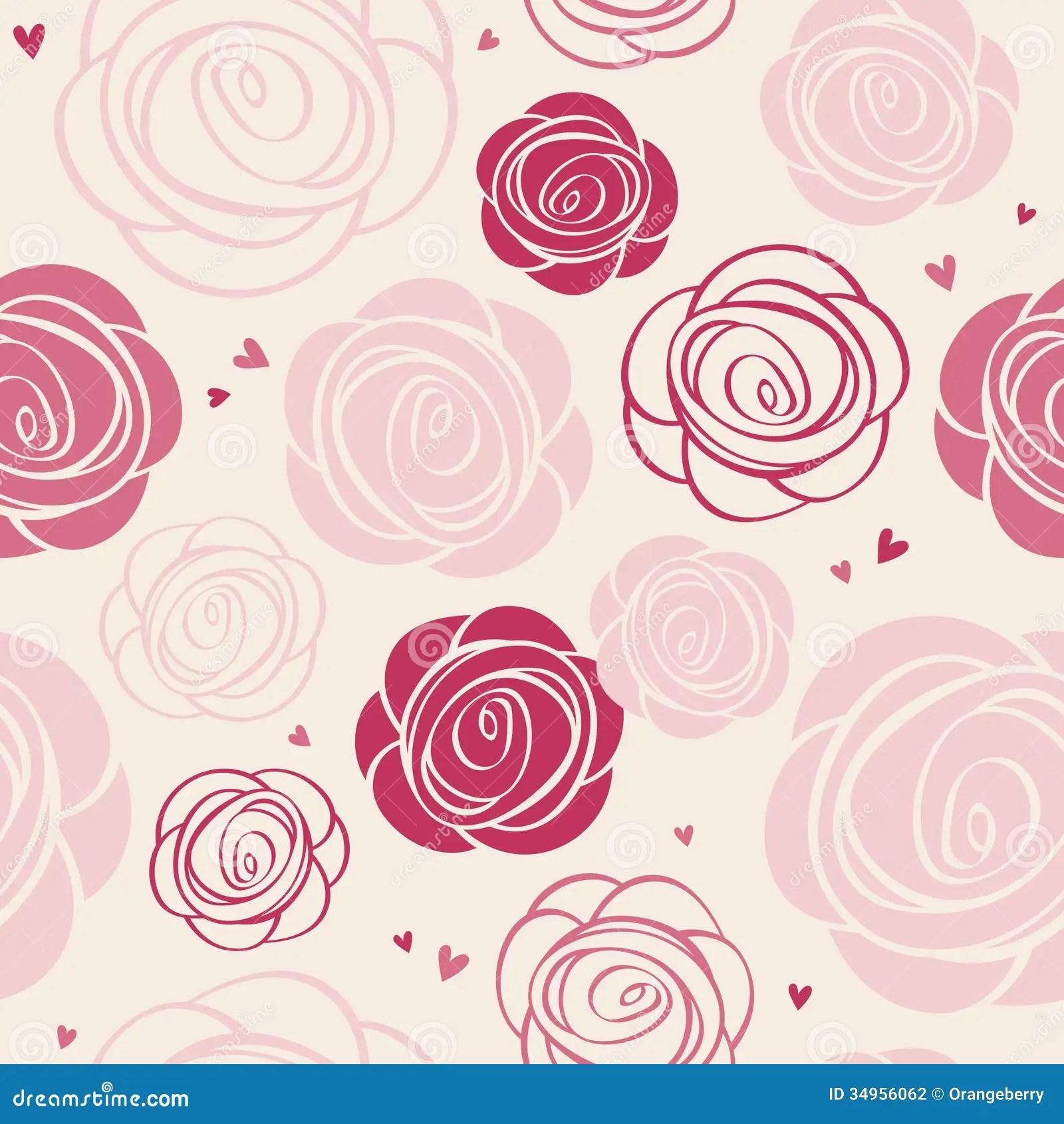 Single Rose Wallpaper Hd Seamless Roses Pattern Stock Vector Illustration Of Card