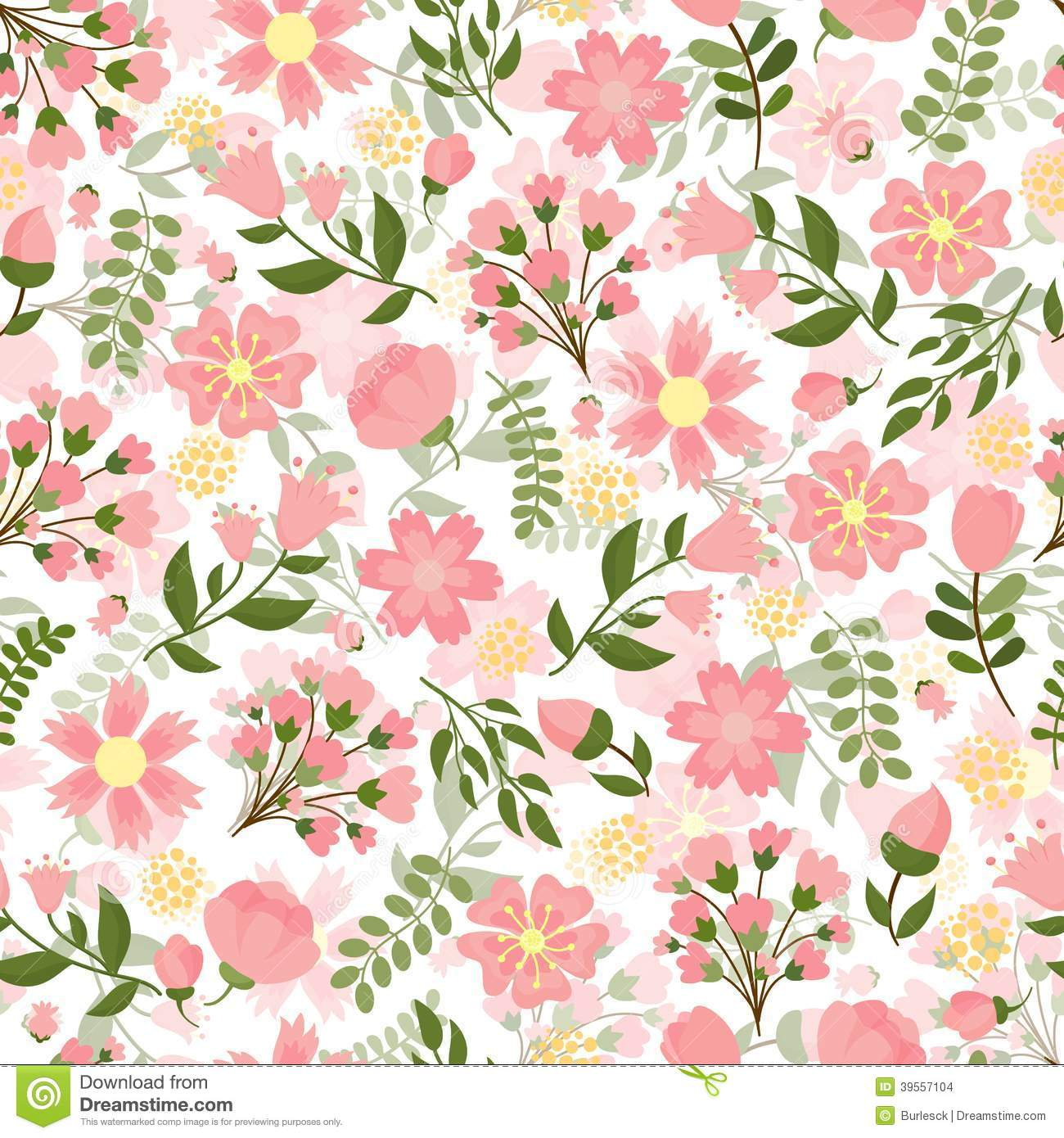 Pretty Fall Iphone Wallpapers Seamless Spring Floral Background Stock Vector